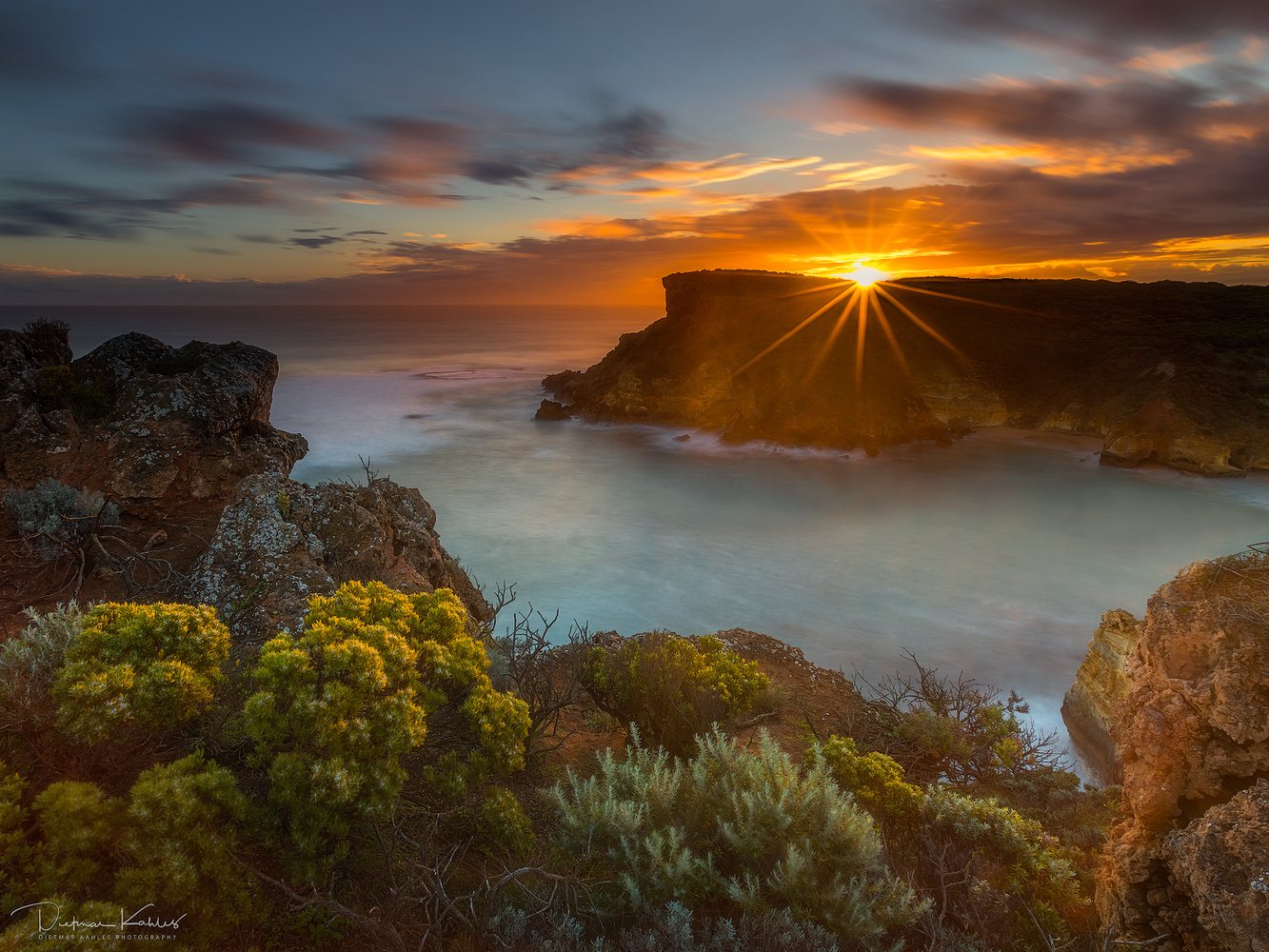 Sunset at Childers Cove, Victoria by Dietmar Kahles