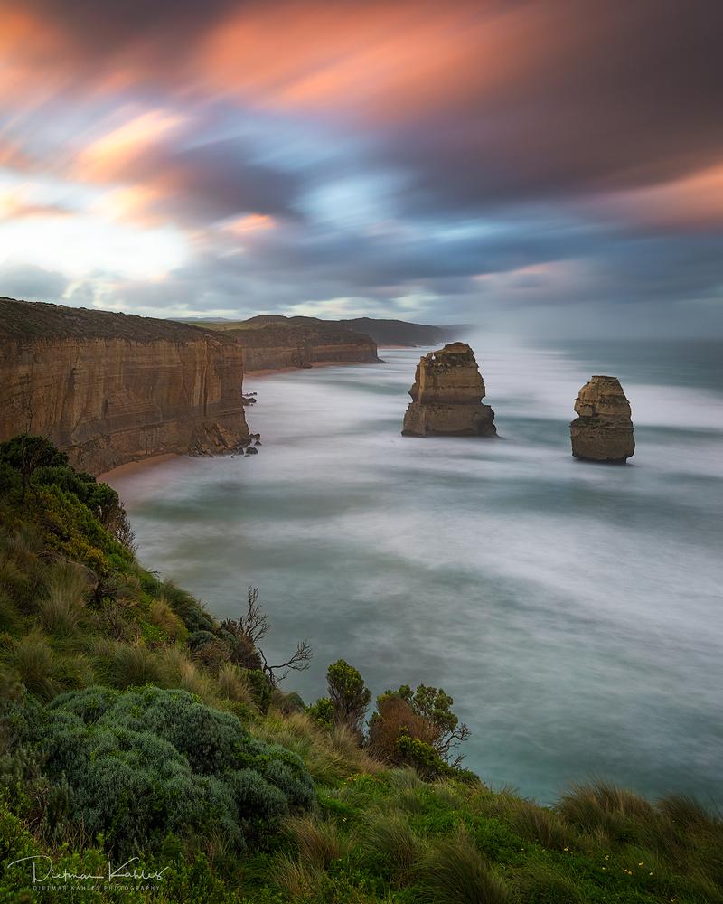 Gog and Magog, Great Ocean Road, Tasmania by Dietmar Kahles