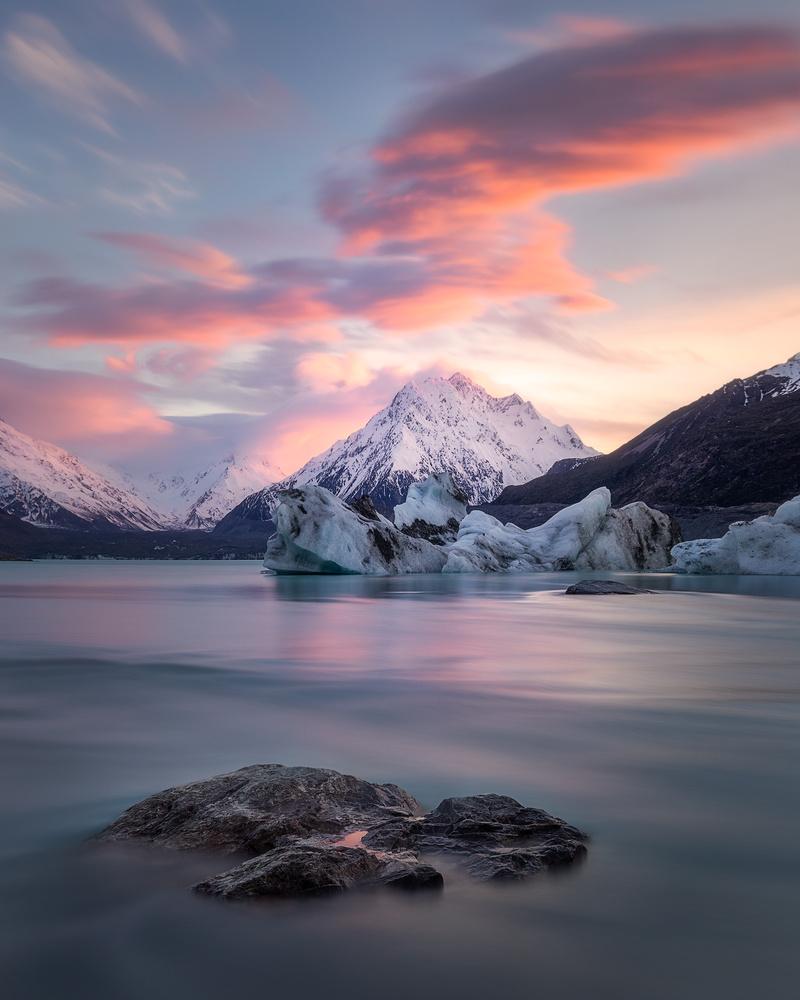 Sunrise at Tasman Lake by Dietmar Kahles