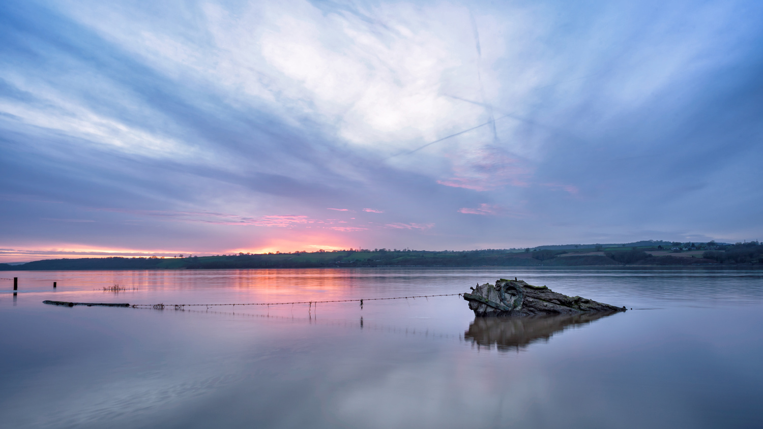 Purton Shipwreck Hulks at Blue Hour by Neil ODonnell
