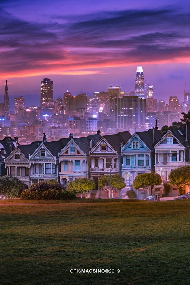 Pastel twilight at the Painted Ladies. by Cris Magsino