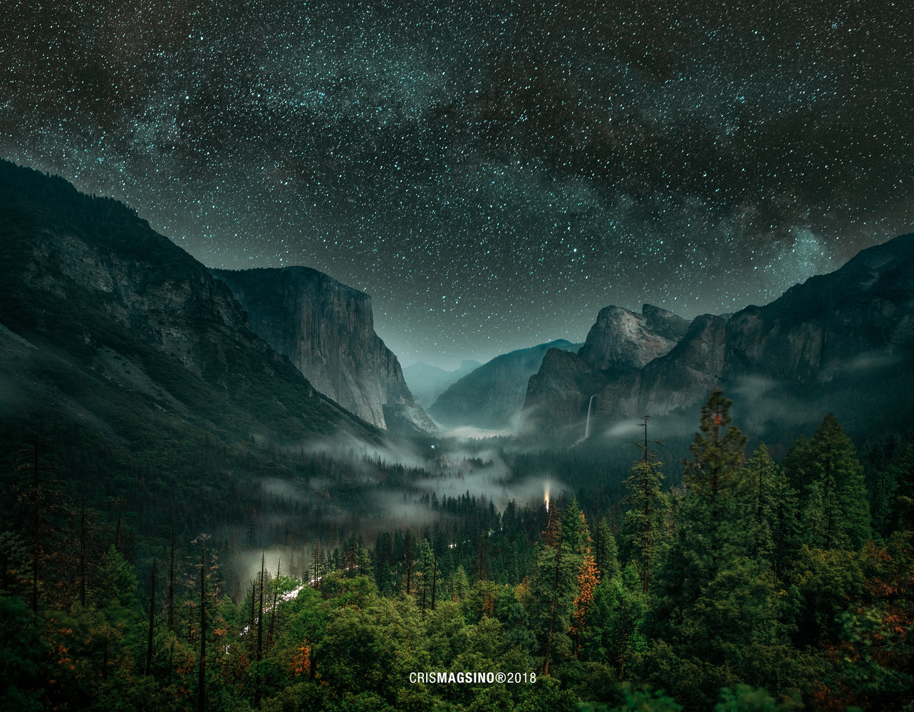 The Lights of Yosemite by Cris Magsino