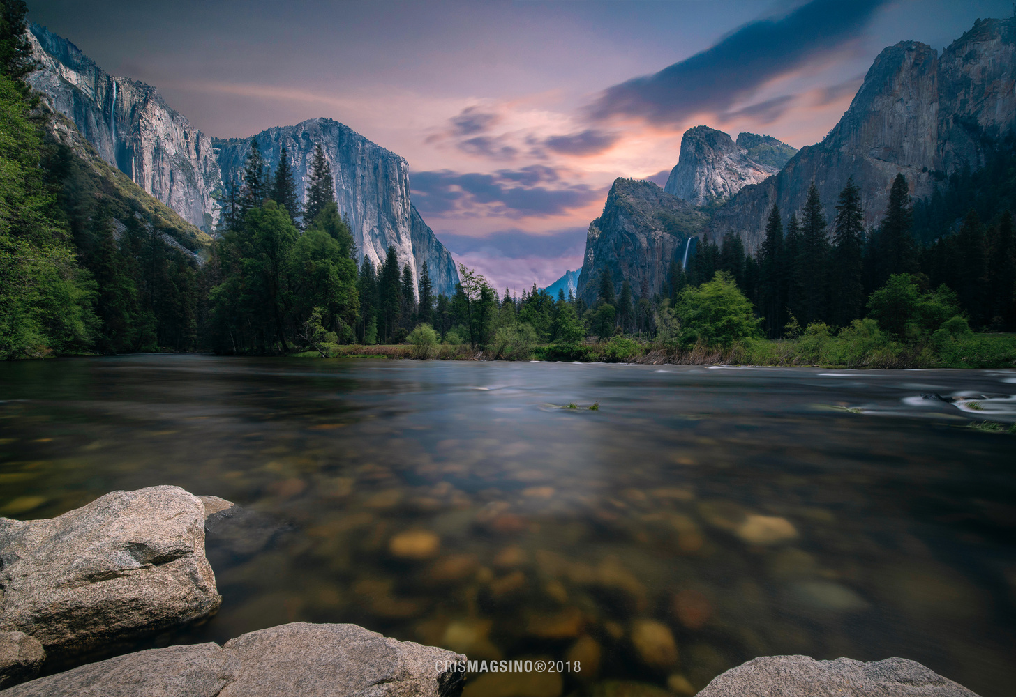 Yosemite River by Cris Magsino