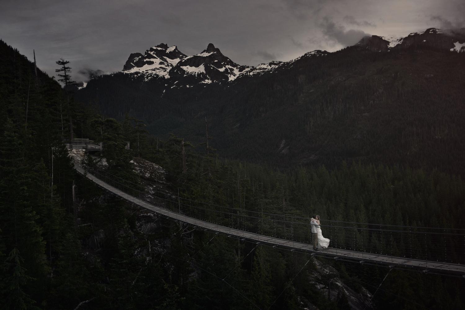 Sea to Sky Gondola suspension bridge by Jozef Povazan