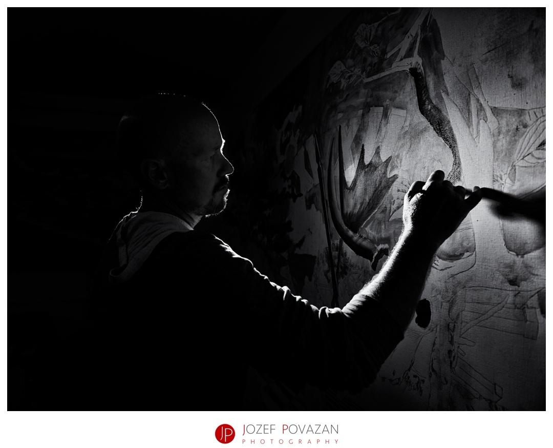 Live painting by Jozef Povazan