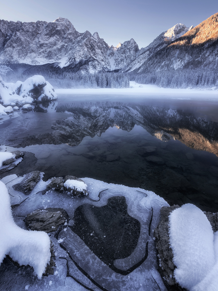 Icy reflections by Ales Krivec