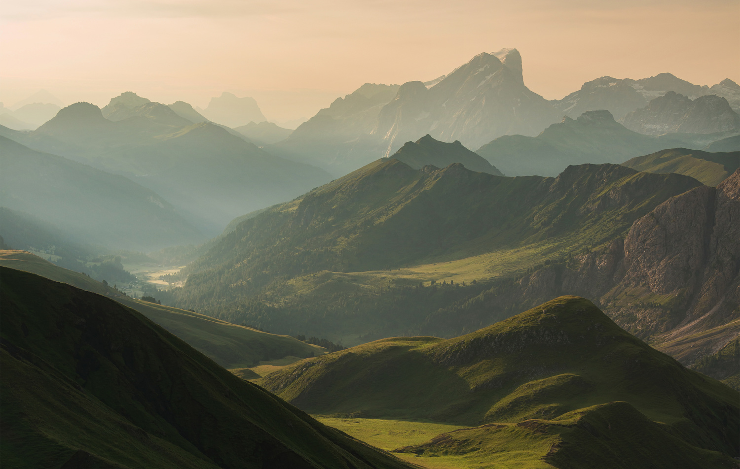 Summer morning in the Dolomites by Ales Krivec