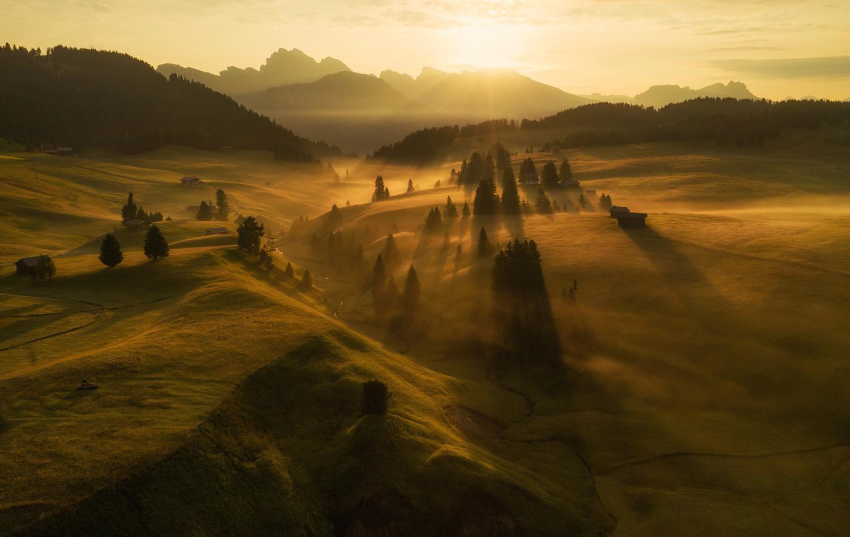 Seiser Alm meadows by Ales Krivec