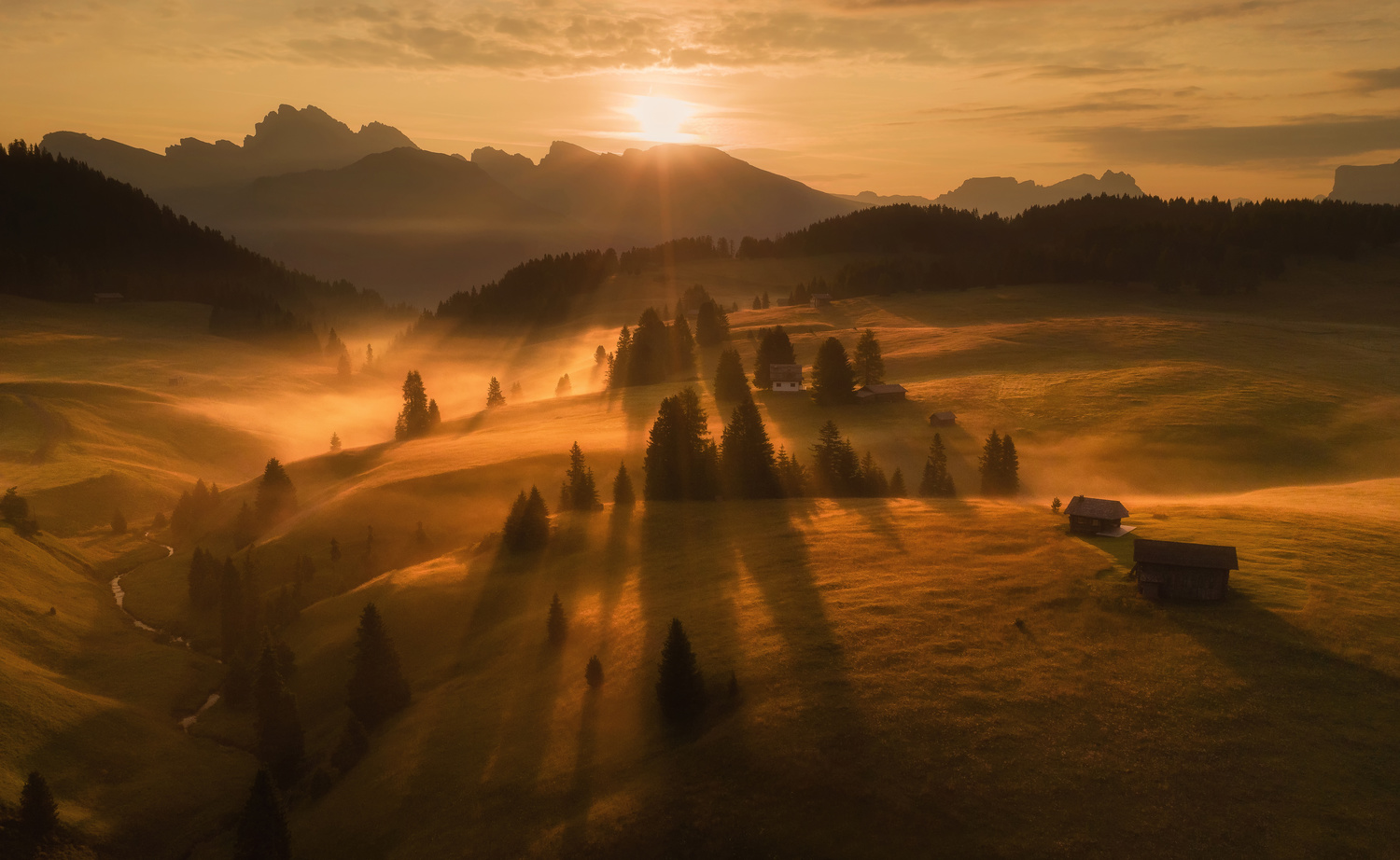 Foggy lines by Ales Krivec