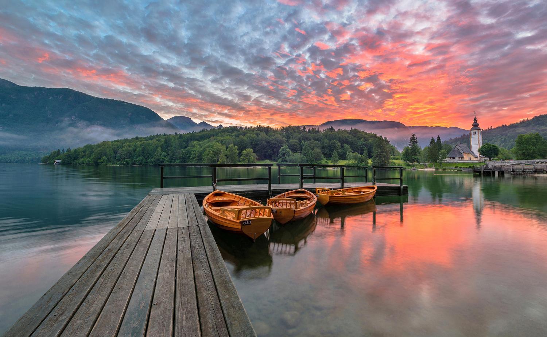Lake Bohinj by Ales Krivec