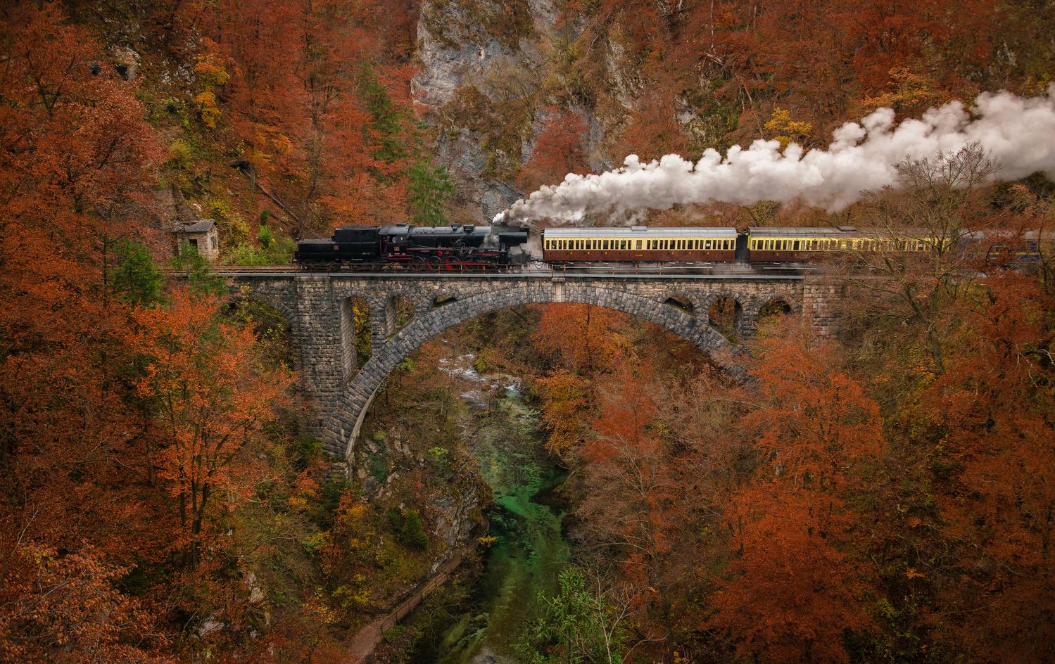 Steam train by Ales Krivec