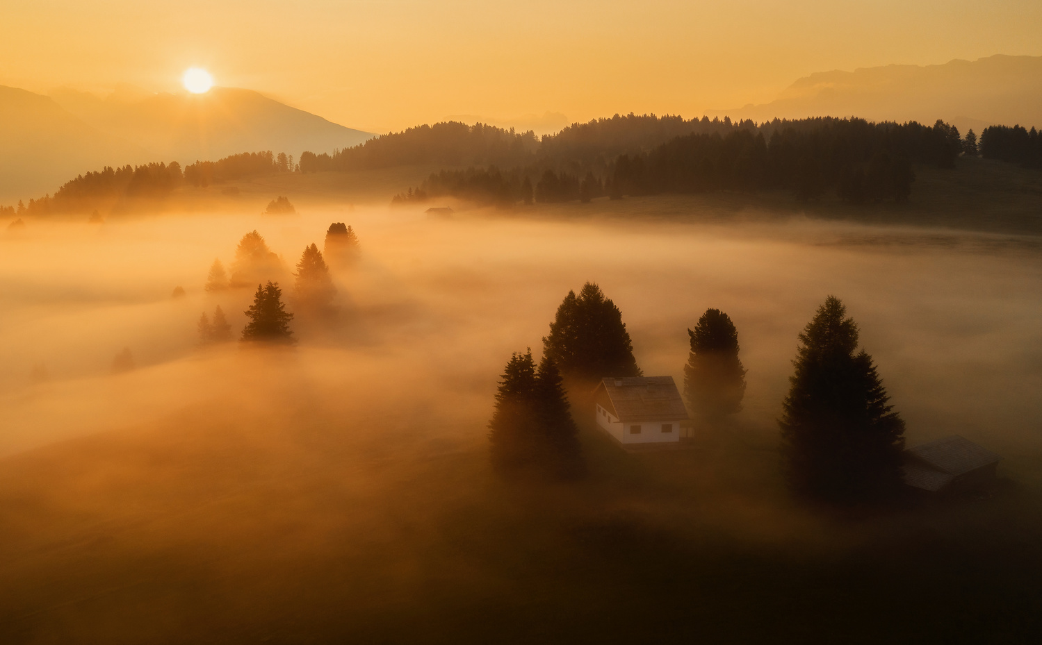 Morning mist by Ales Krivec