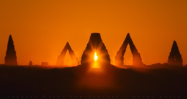 Sunrise at Arctic Henge by Andrzej Muzaj