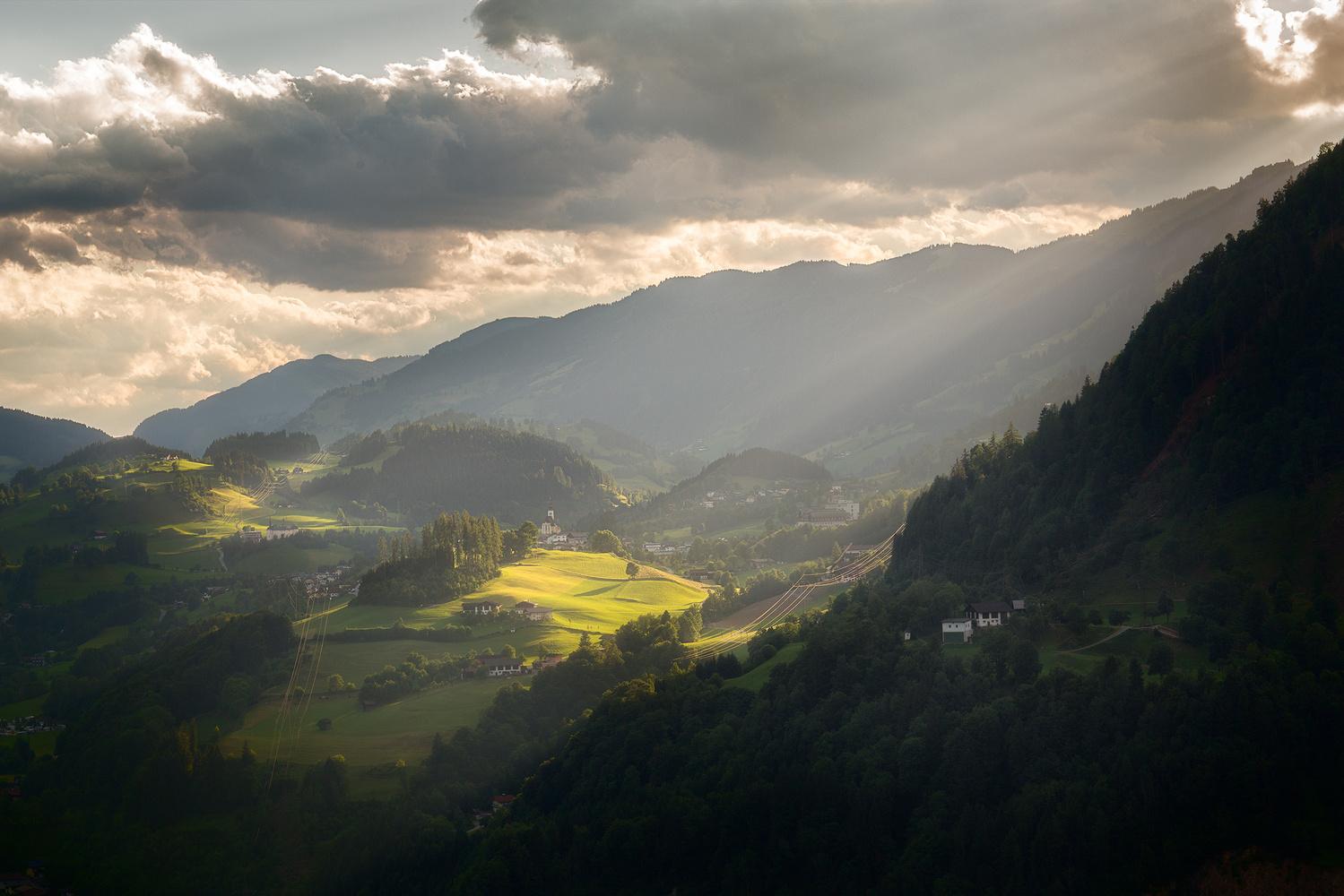 Alpendorf Sunset by Andrzej Muzaj