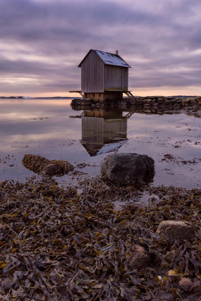 Cabin on the west coast of gothenburg by Balachandra Jois