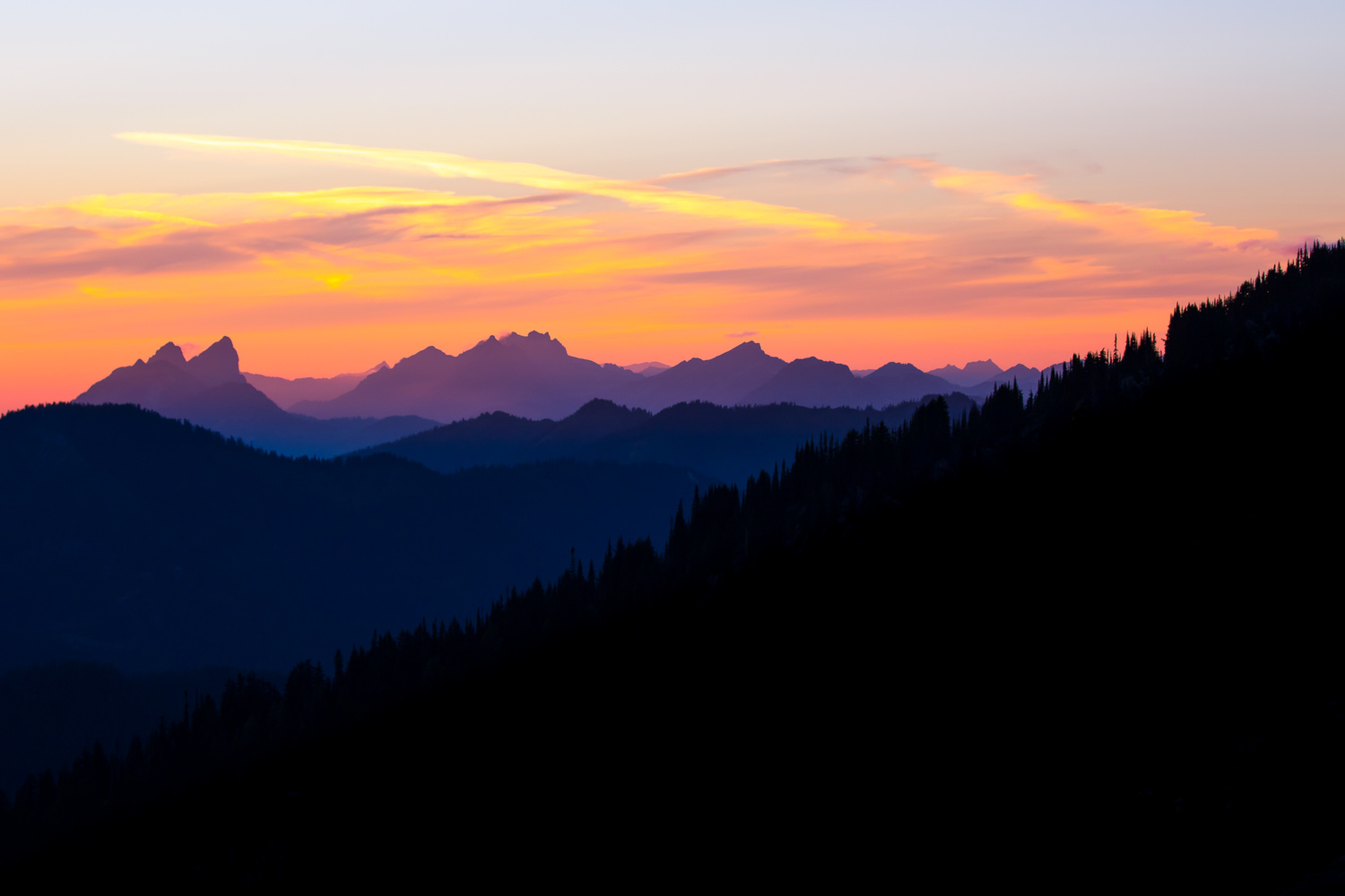 Alpine Wilderness Sunset by Colton Jacobs
