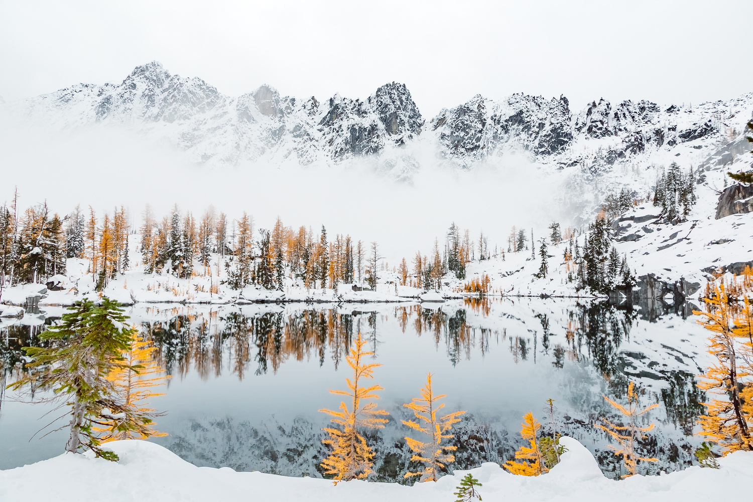 Fall Meets Winter In The Washington Enchantments by Colton Jacobs