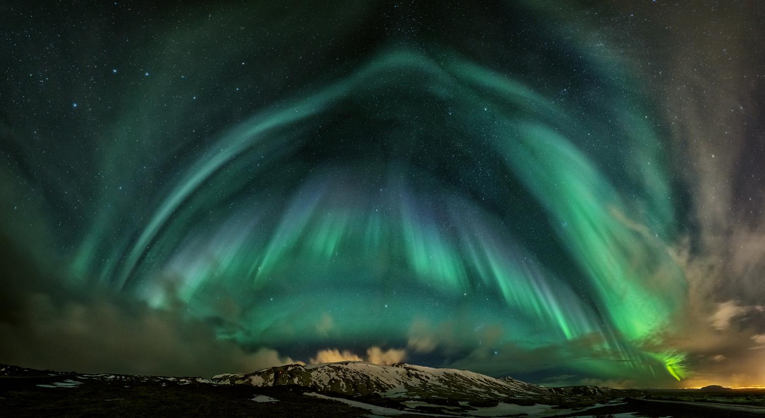 Northern lights in Iceland by Bragi Kort