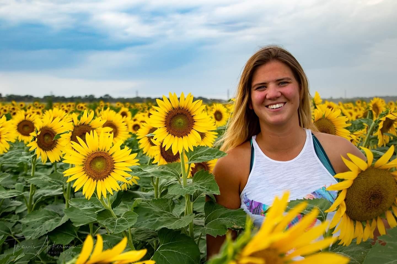 Impromptu sunflower shot by Travis Ackerman