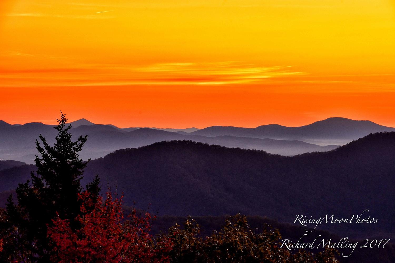 Sunrise Blueridge Mountains NC by Richard Malling