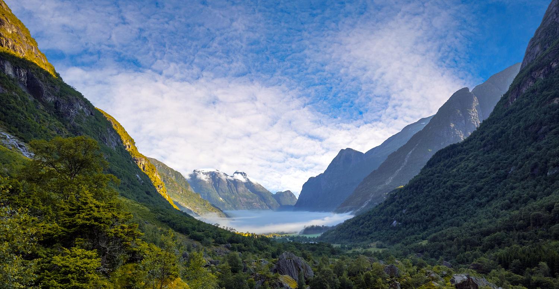 Foggy Morning in Olden by Eirik Sørstrømmen