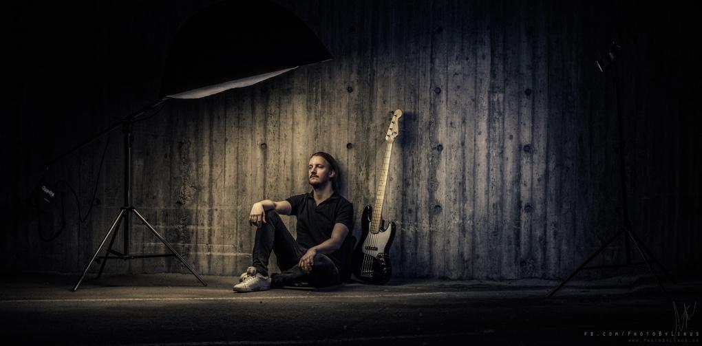 Niklas Sandin of Katatonia for Fender by Linus Pettersson
