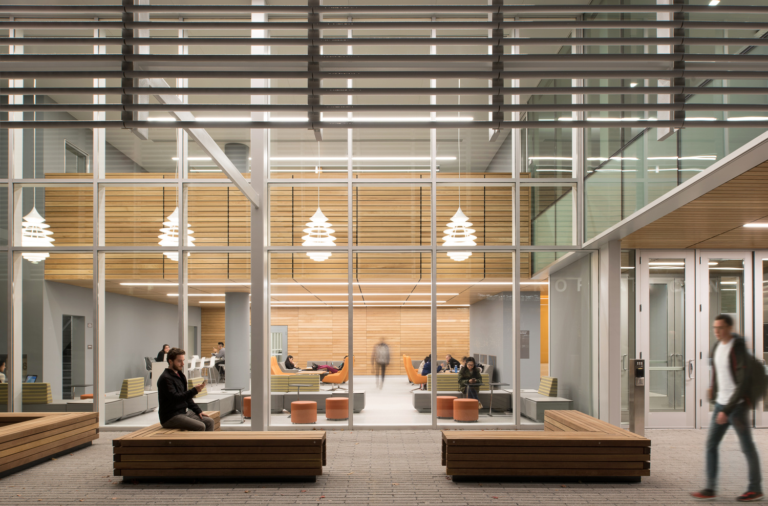 Korman Center, View Into Lounge by Graham Hebel