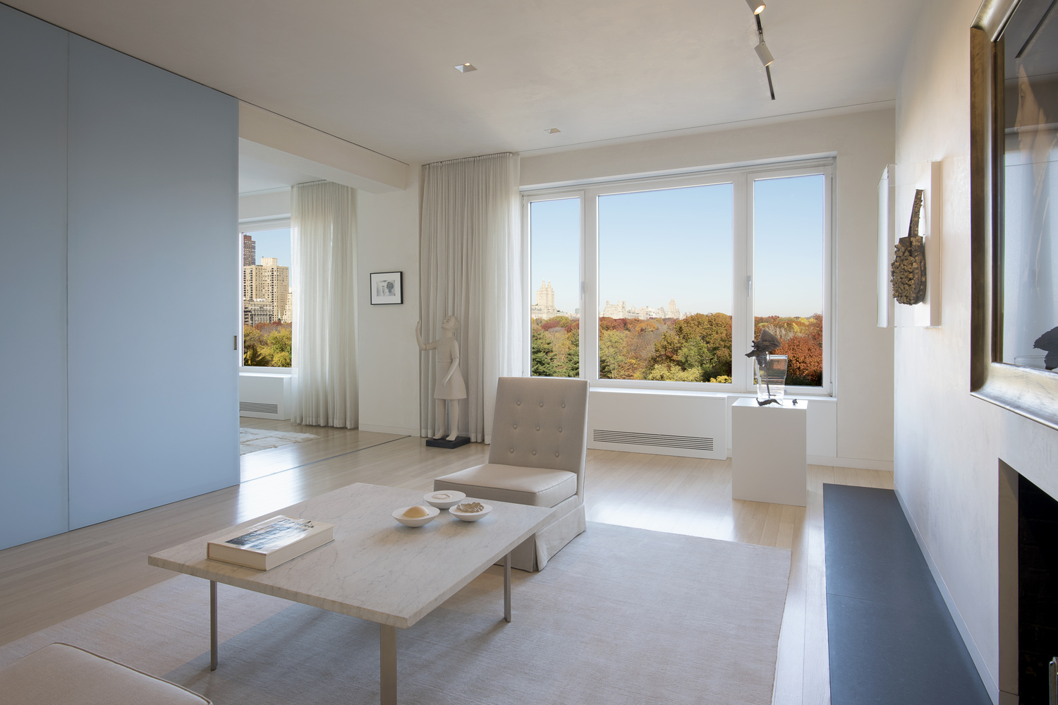 Central Park South Residence, Sitting Room With View To Central Park by Graham Hebel