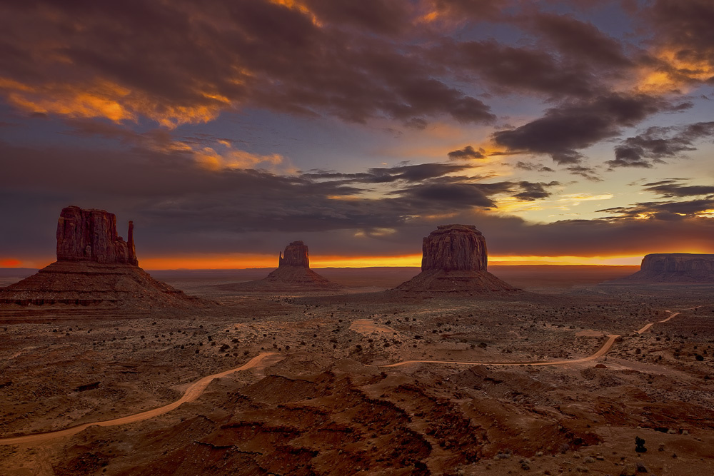 Sunrise in Monument Valley by Jim Haas