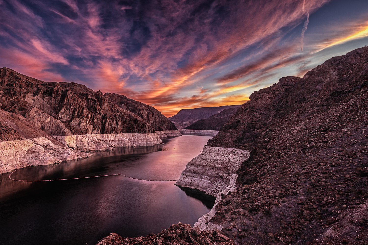 Sunrise above the Hoover Dam by Jim Haas