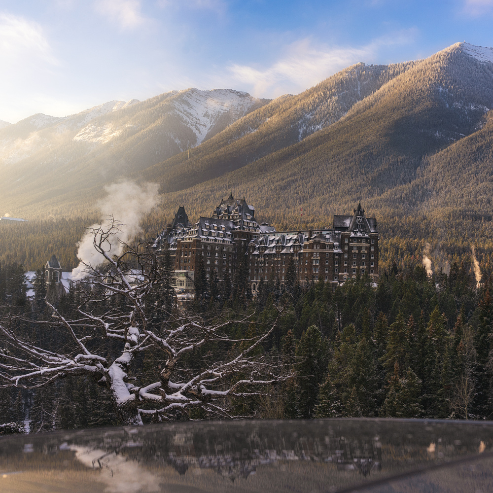 Early mornings at Banff Springs by David Penner