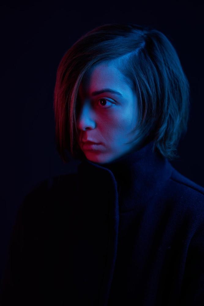 Blade Runner inspired portrait by hugo ahlberg