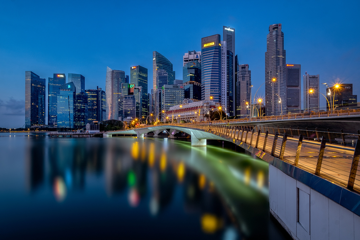 Singapore Before Dawn by John Kimwell Laluma