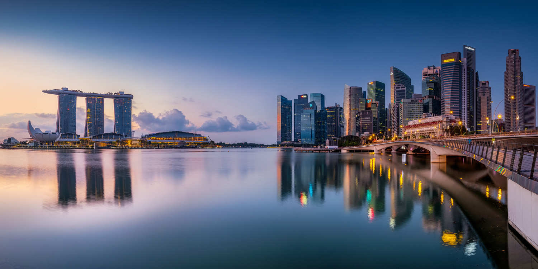 Morning at Marina Bay by John Kimwell Laluma