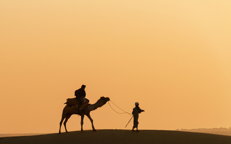 Sunset in the desert by Ram Ramkumar