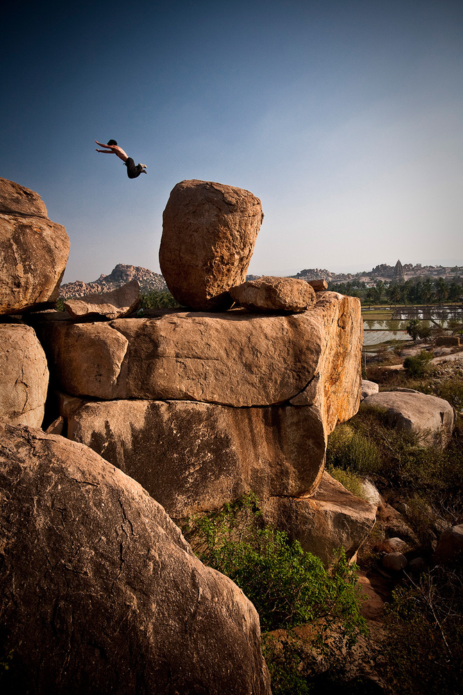 Thomas in Hampi II by Andy Day