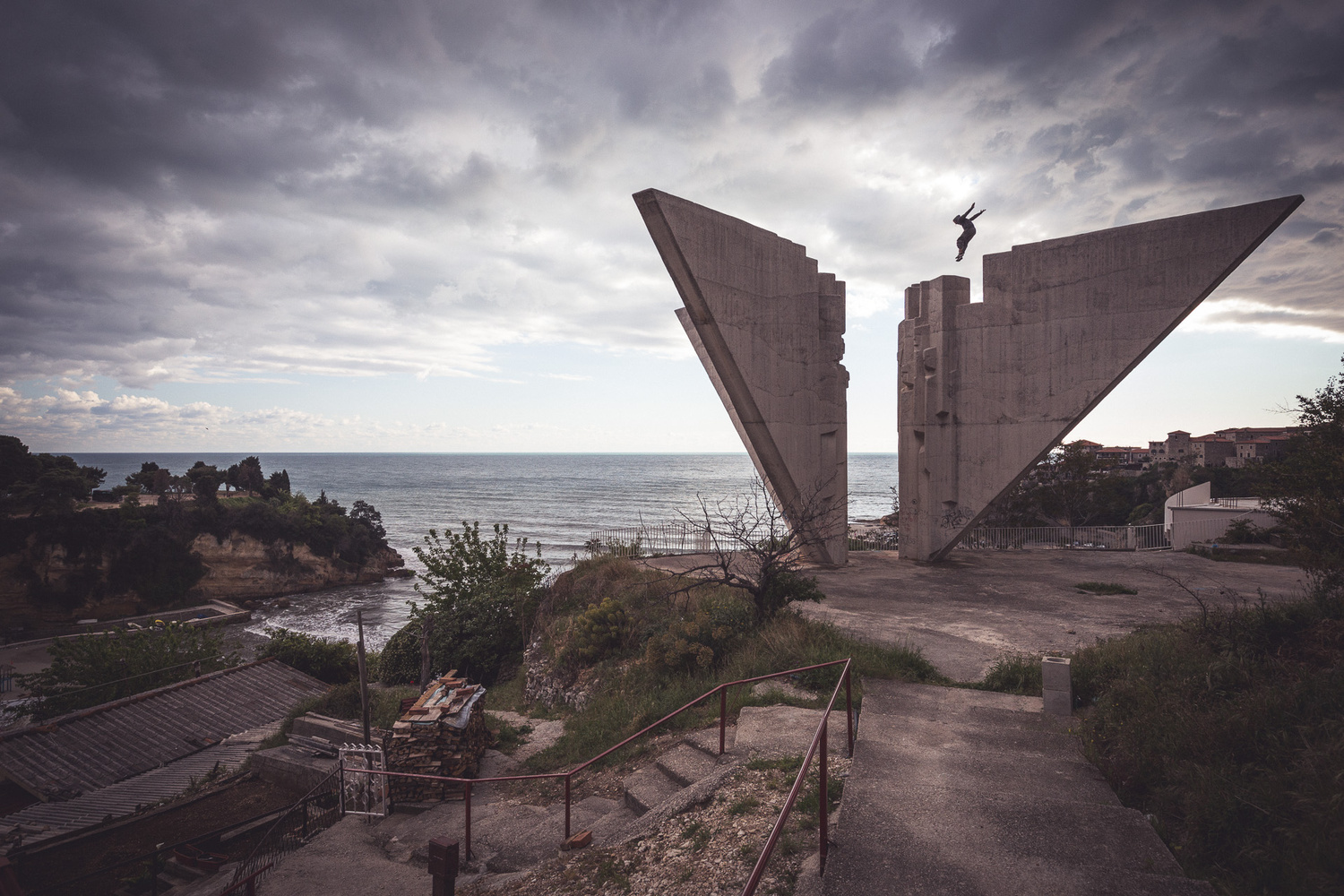 The monument at Ulcinj by Andy Day