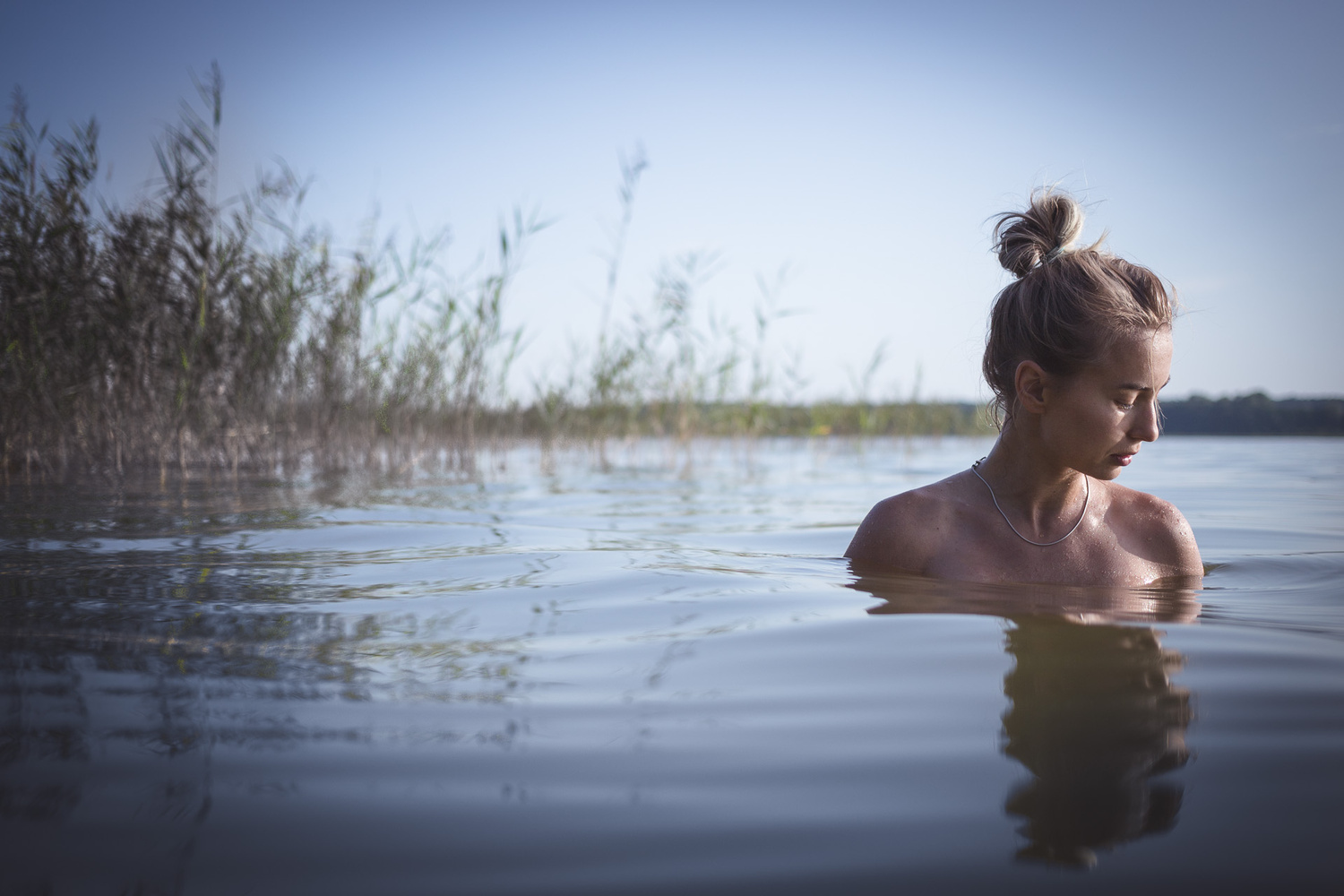 Zofia in the lake by Andy Day