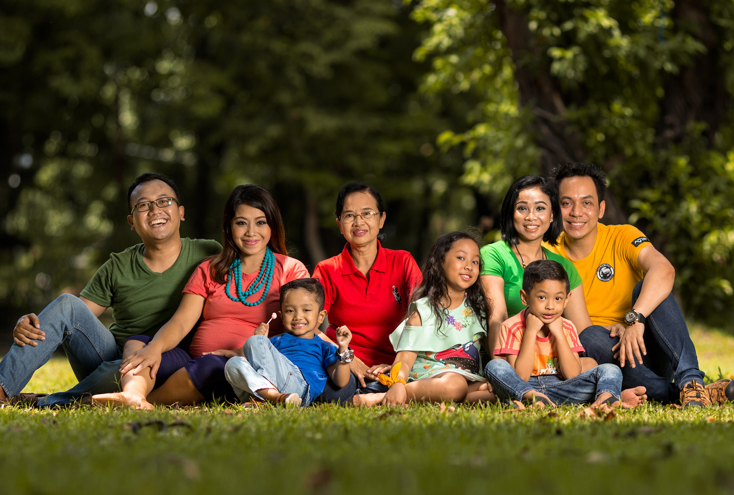 Family portrait by Sotya Adira