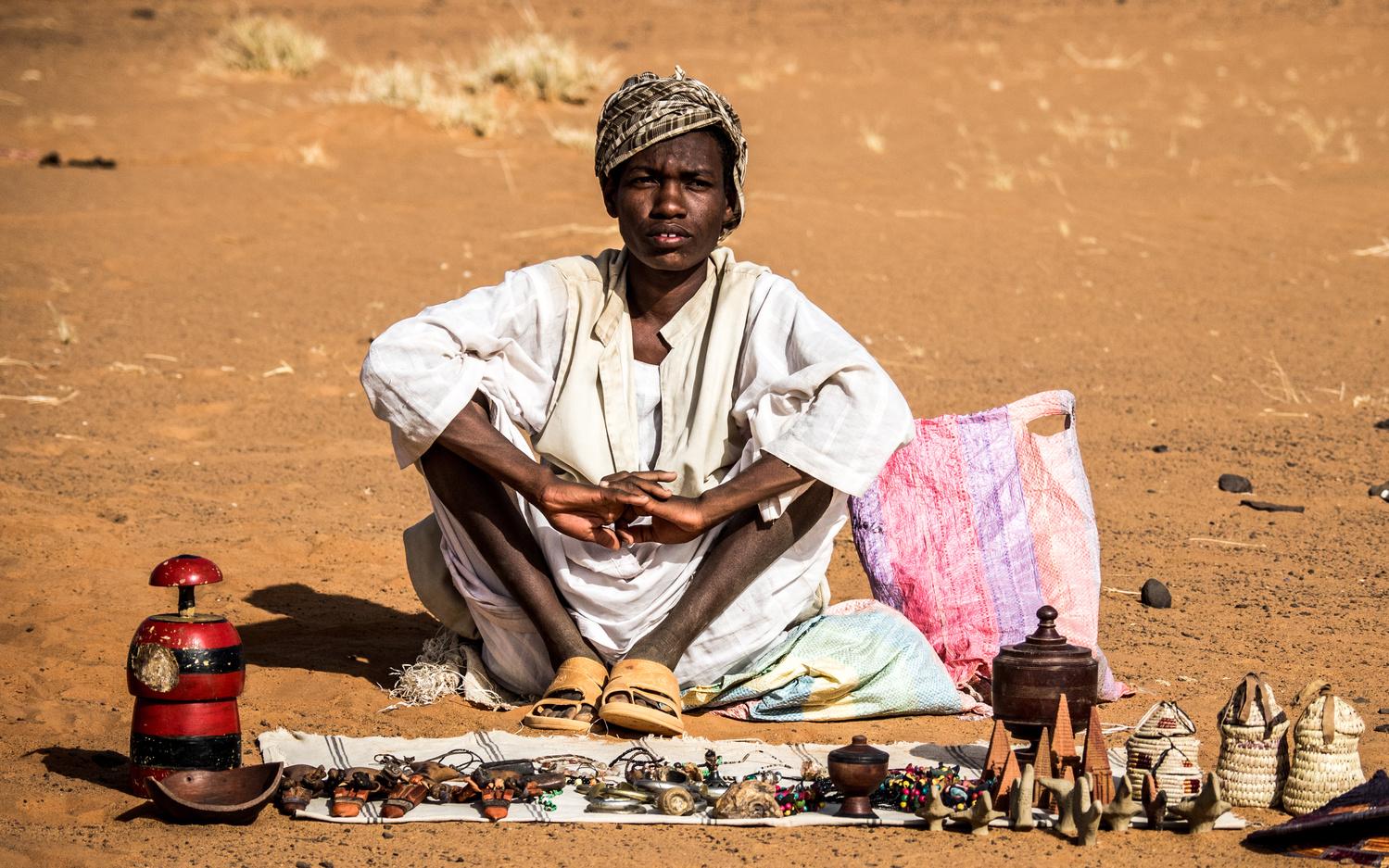 Vendor, Meroe, Sudan by Daniel Simon