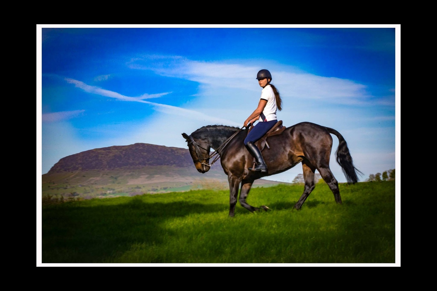 Slemish mountain and Kathryn  by Jim McConnell