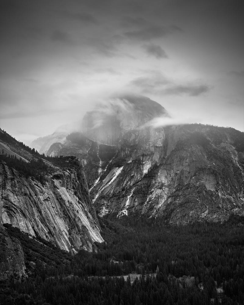 Cloudy Half Dome, Yosemite. by Matthew Cooke