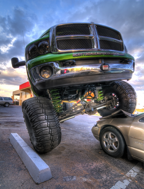 Truck On Car by Don Shader
