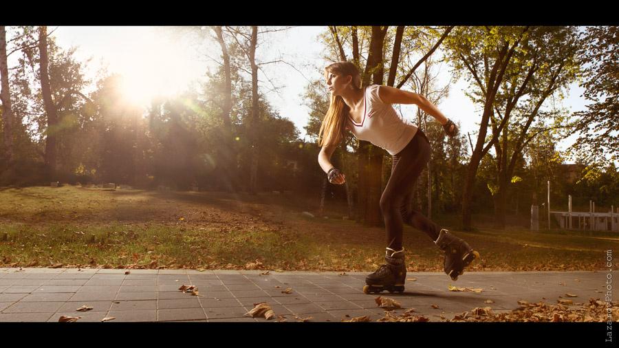 Girl on Rollerblades by Tihomir Lazarov