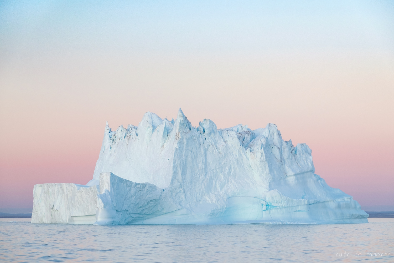 Iceberg sunset by Rudy De Maeyer