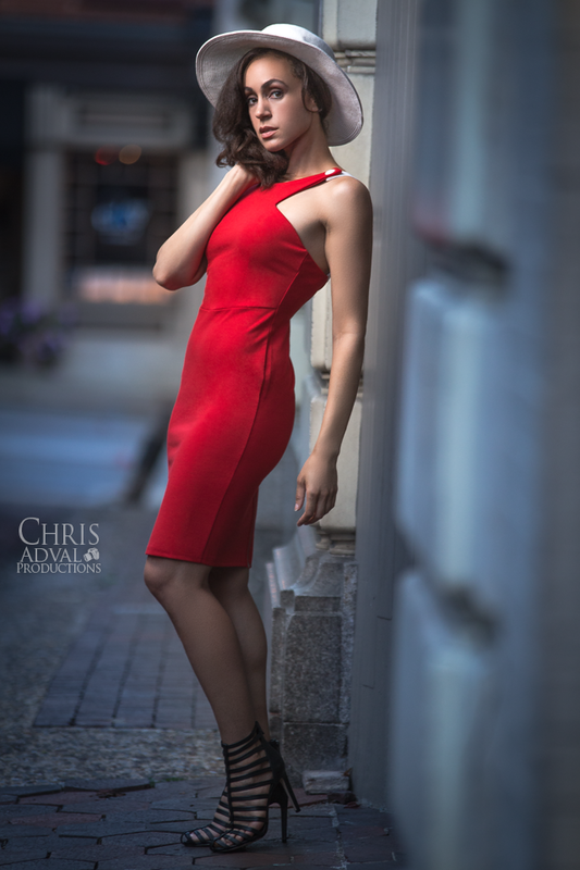 Heather in Red by Chris Adval