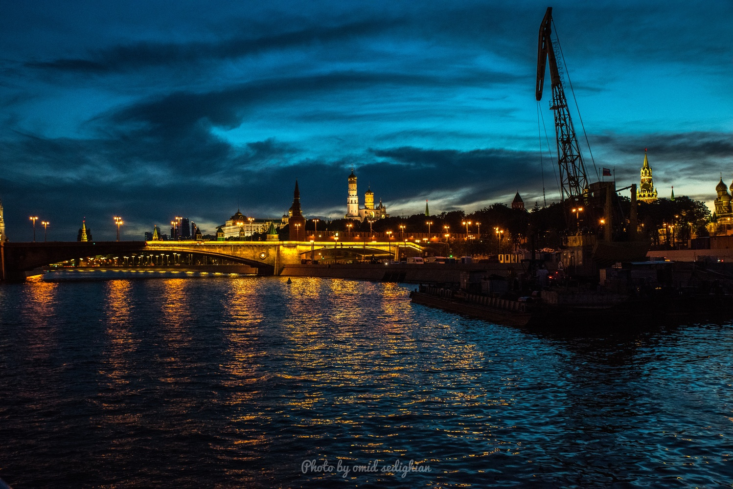 River light show by omid sedighian