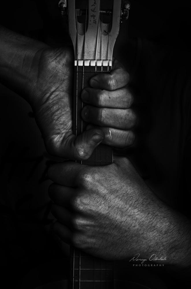 hands hugging the music  by Neringa olbutaite