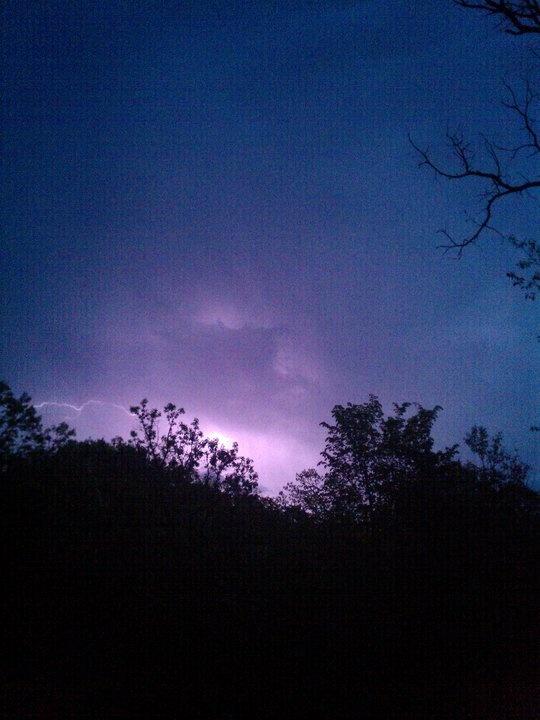 Purple Lightning by Nathan Klich