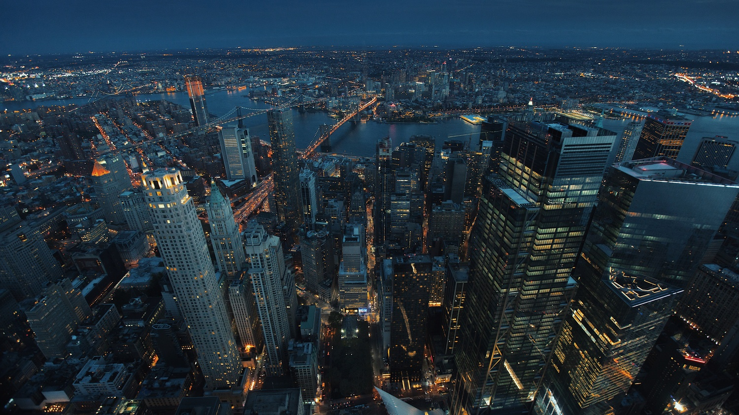 New York City from above at night by Kendall Rittenour
